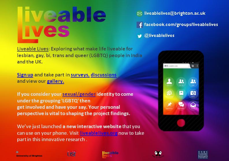 New flyer for the Liveable Lives website