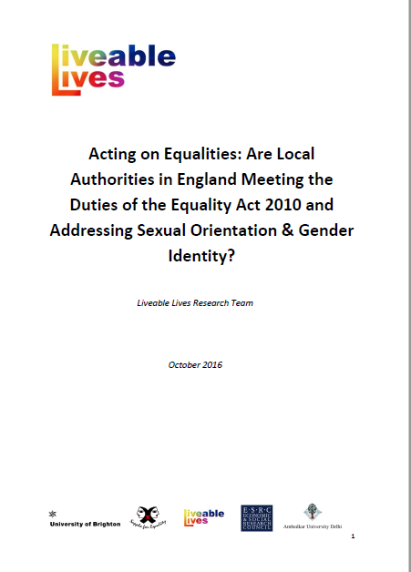 Liveable Lives publishes report on how English local councils meet legislation for LGBT people